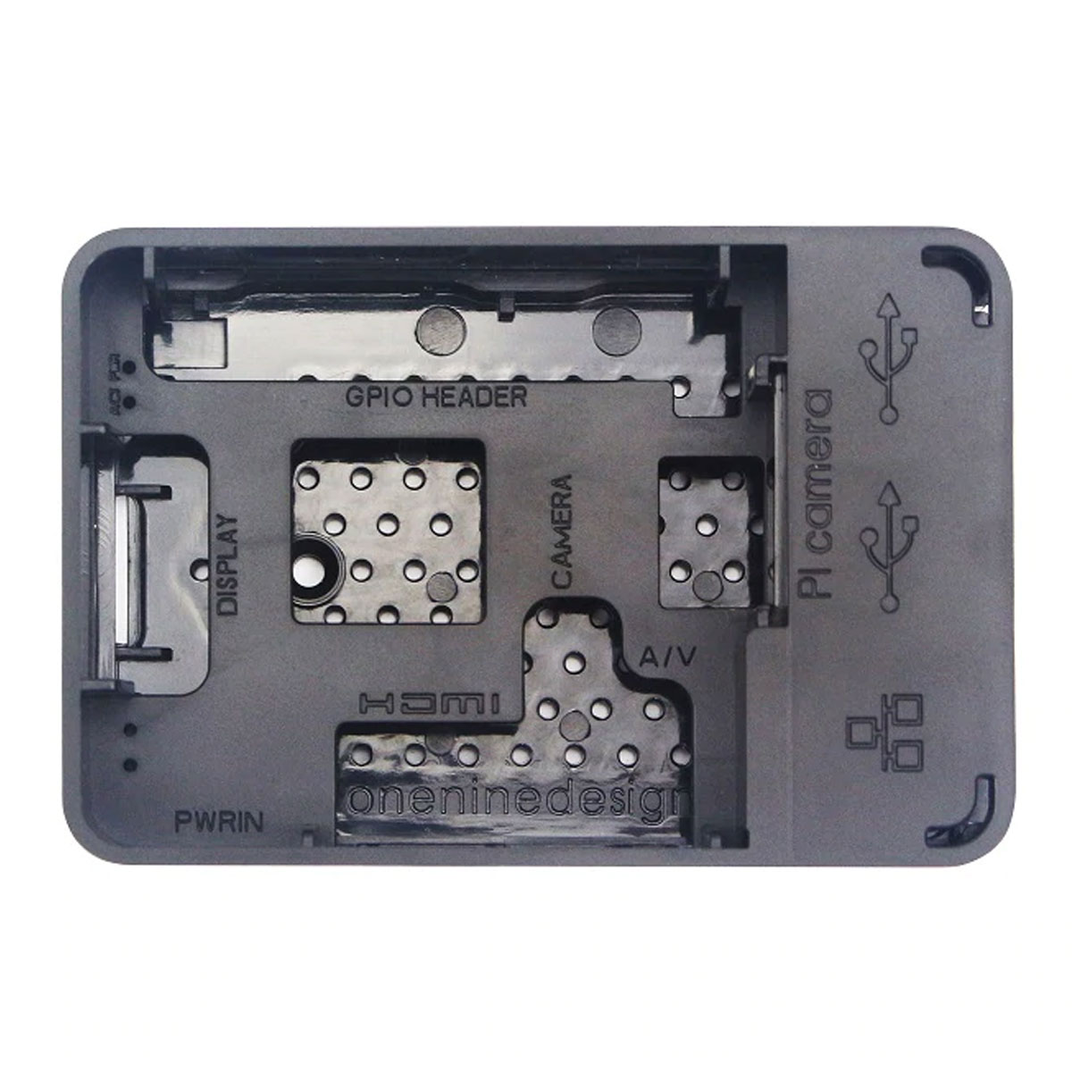 Case Preto para Raspberry Pi 3, Pi 2 Modelo B, B+