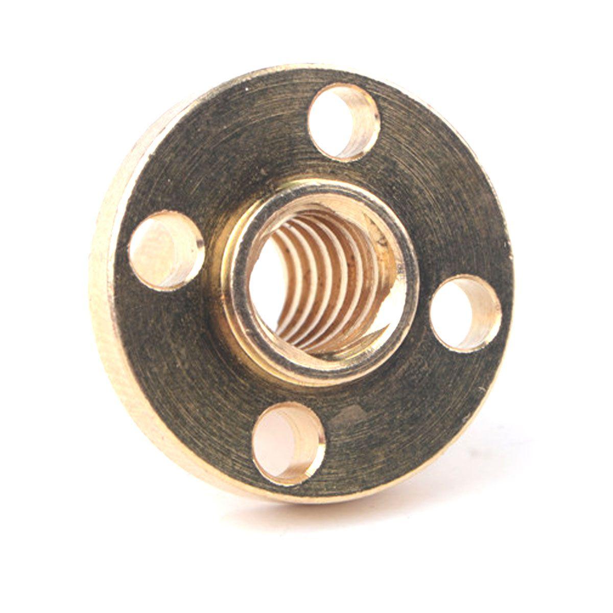 Castanha / Flange de Latão para Fuso Trapezoidal T8 Tr8 8mm para Impressora 3D / CNC