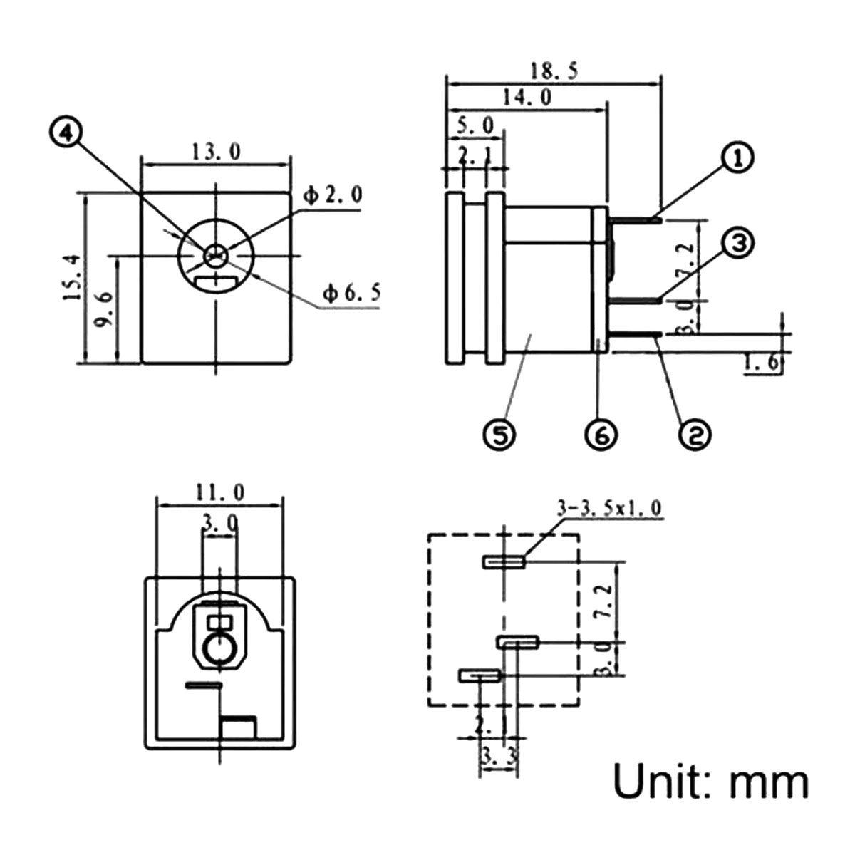 Conector DC / Plug Jack Macho + Plug Jack Fêmea