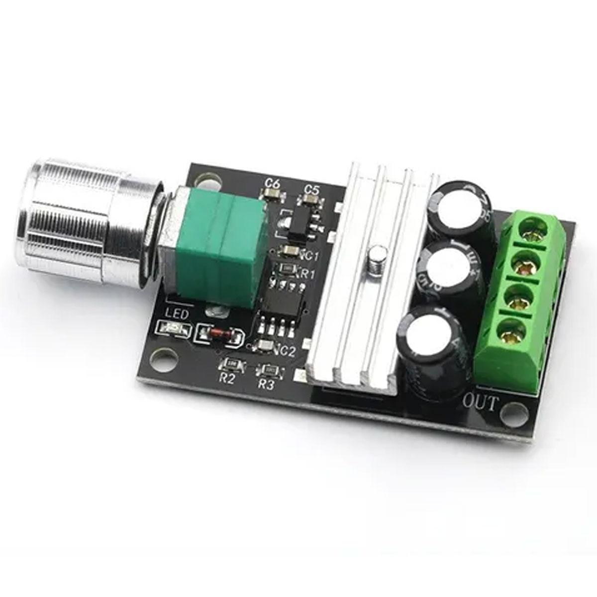 Controlador PWM DIMMER 6v a 28v 3A para Motor DC