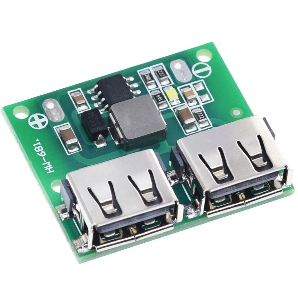Regulador de Tensão USB Step Down com duas saídas 5V 3A