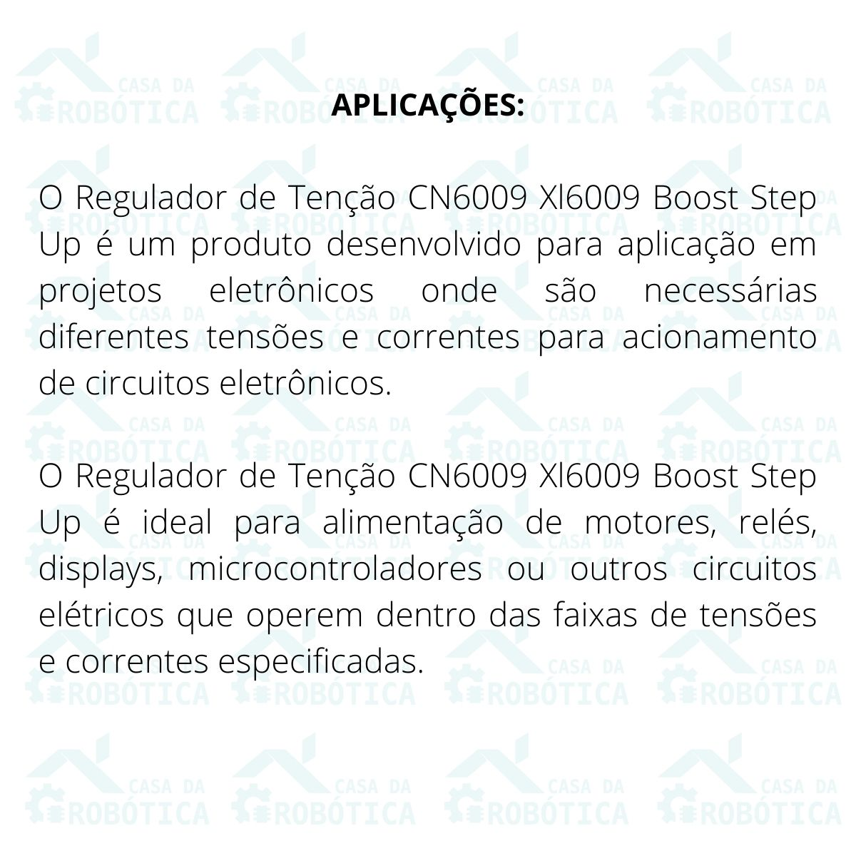 Conversor Regulador de Tensão DC DC Cn6009 Xl6009 Boost Step Up