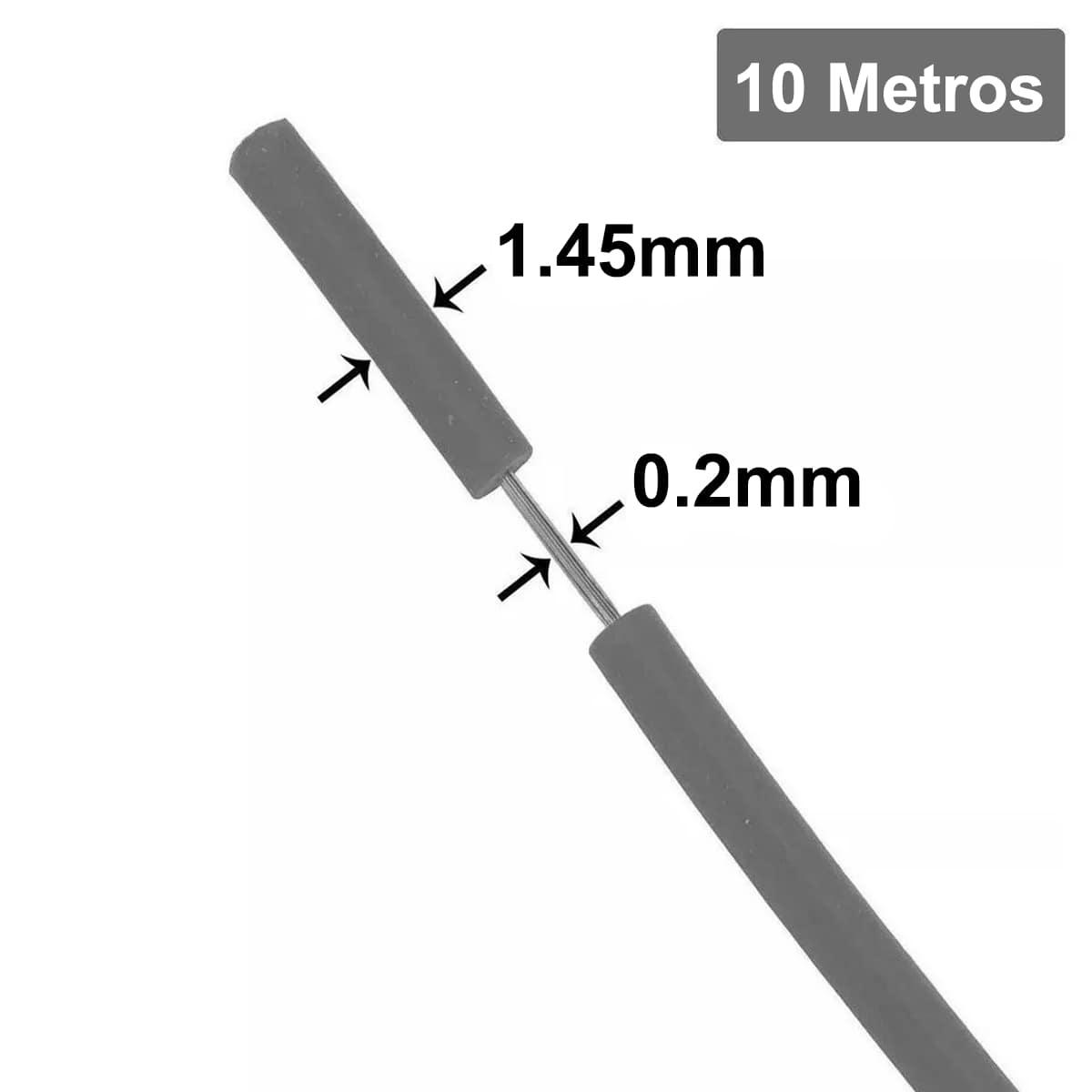 Fio Cabinho Flexível de Cobre Estanhado 0,20mm com 10 metros