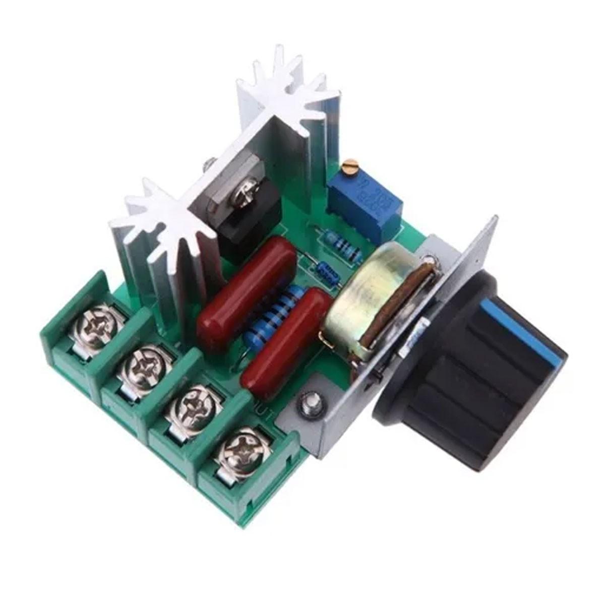 Dimmer rotativo de alta potência CA 2000W em 220V - 1000W em 127V - Bivolt