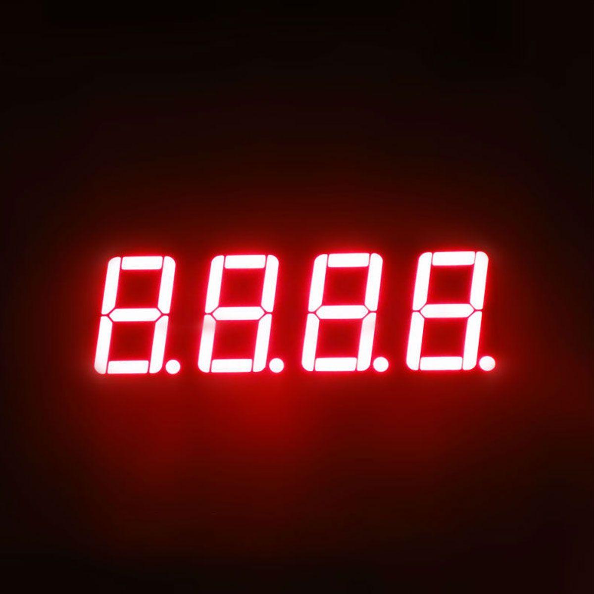 """Display 7 Segmentos 4 Dígitos Vermelho Cátodo Comum 0,36"""""""