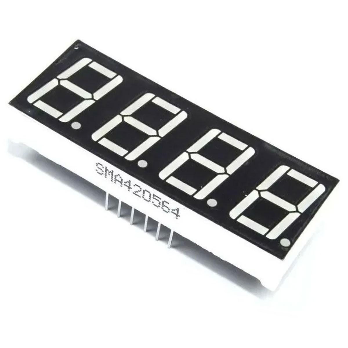 Display 7 Segmentos 4 Dígitos Vermelho Cátodo Comum 0,56