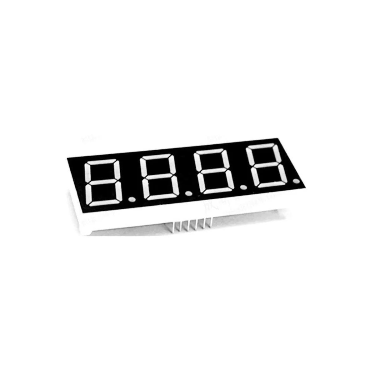 """Display 7 Segmentos 4 Dígitos Vermelho Cátodo Comum 0,56"""""""