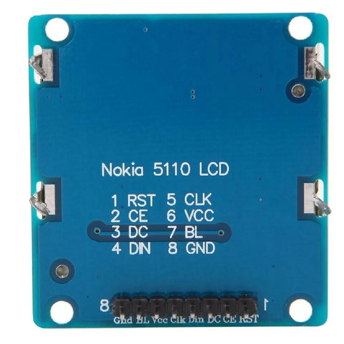 Display LCD 84x48 Nokia 5110 Azul