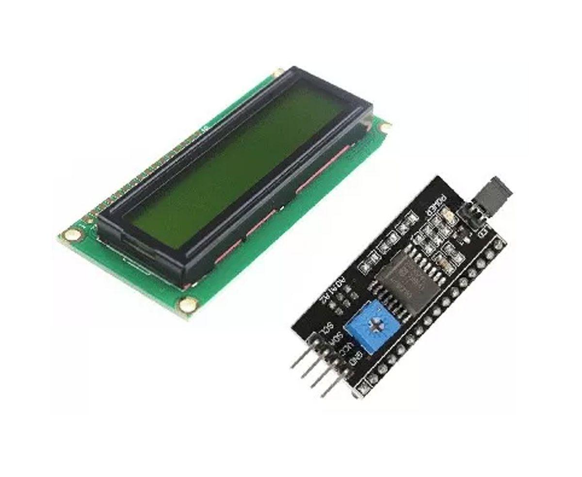 Display LCD Amarelo 16x2 + Módulo I2c Serial