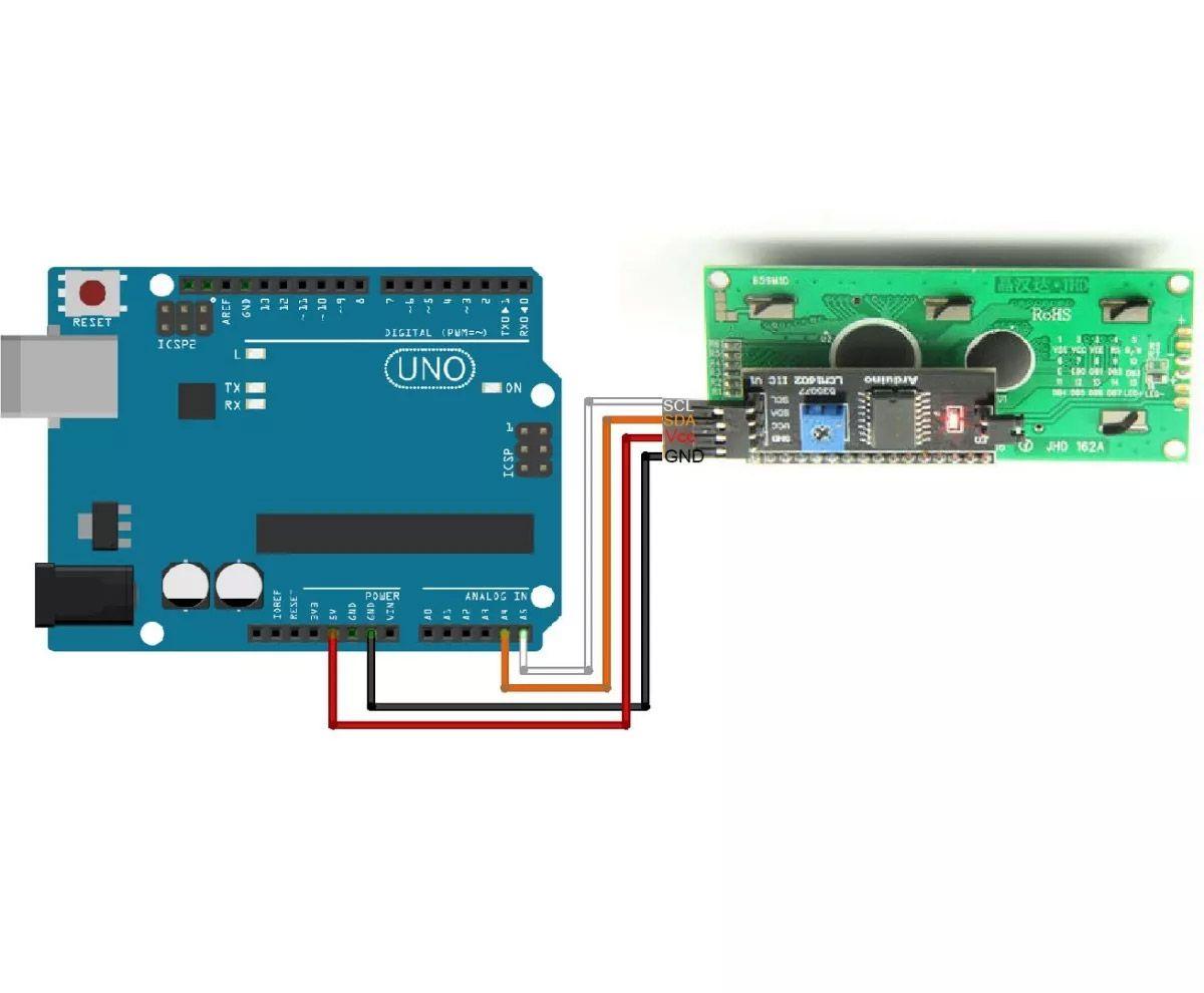 Display LCD Azul 16x2 + Módulo I2C Serial 16x02 1602
