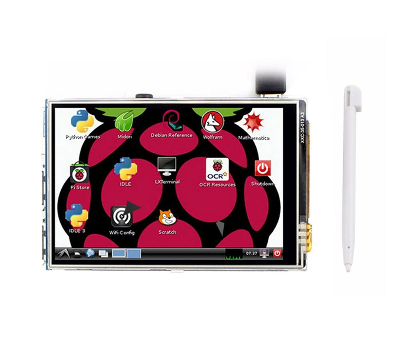 Display Touch Screen 3.5 + Case para Raspberry + Cartão 32GB Classe 10 + Cabo HDMI 1m