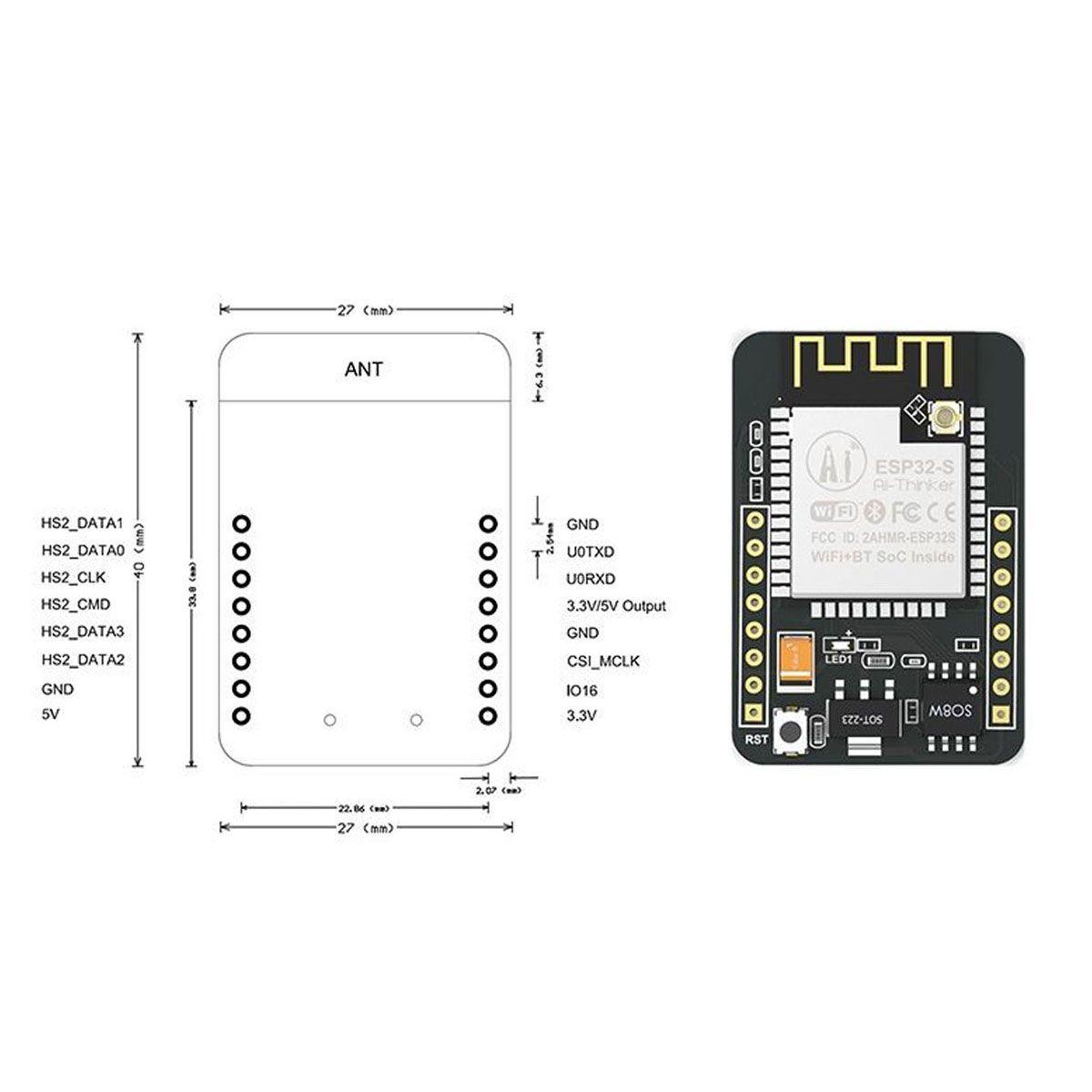 Esp32 Cam EspCam Wifi Bluetooth com câmera Inclusa