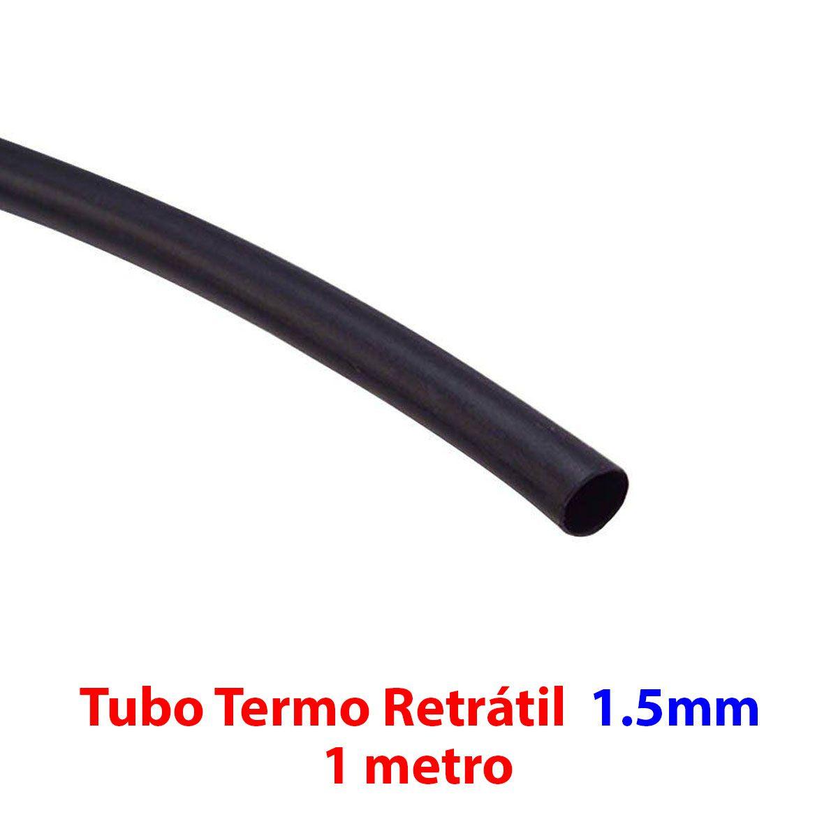 Espaguete Isolante / Tubo Termo Retrátil Espessura 1,5mm | Comprimento 1 Metro