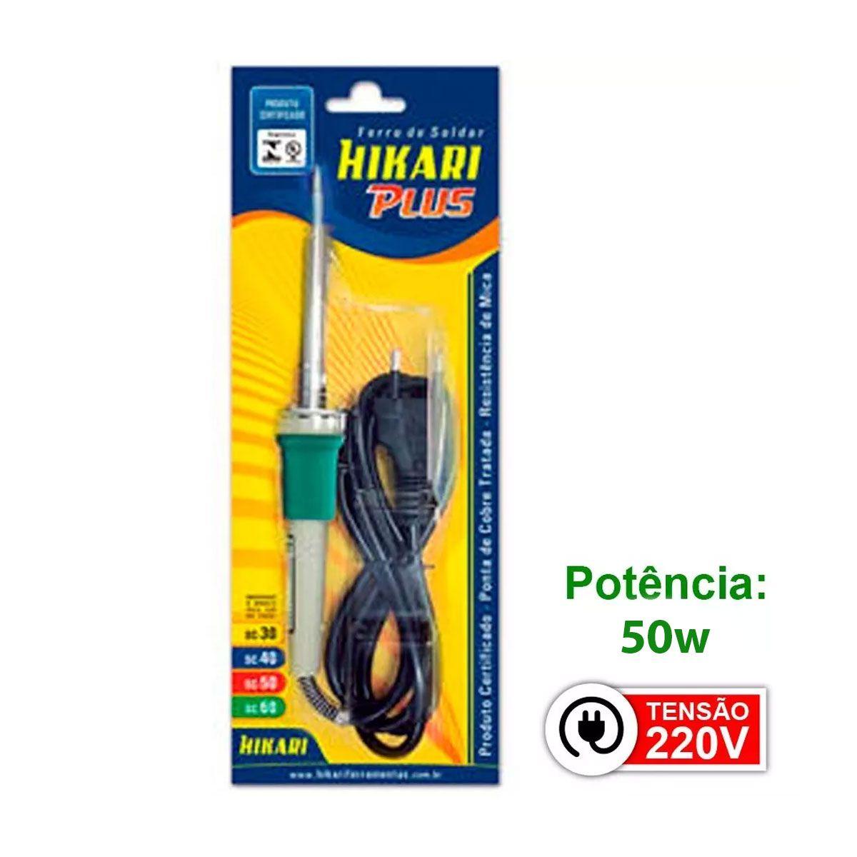 Ferro de Solda HK Plus Hikari Profissional SC-60 50W 220v