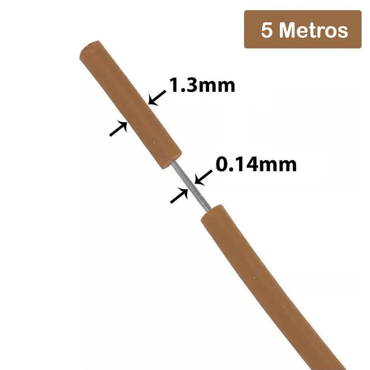 Fio Cabinho Flexível de Cobre Estanhado 0,14mm com 5 metros