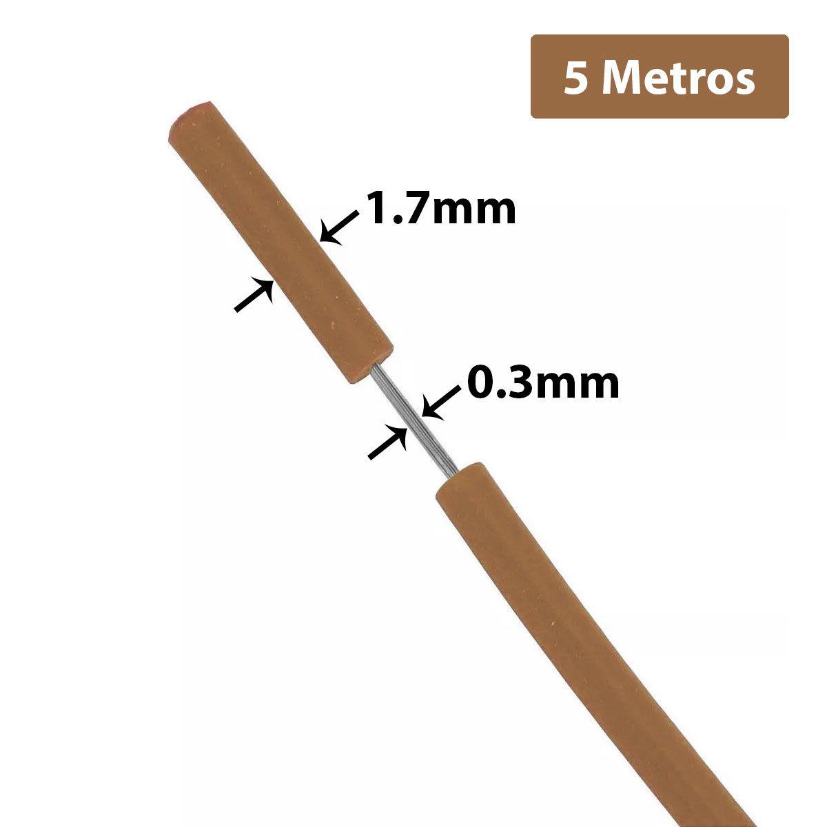 Fio Cabinho Flexível de Cobre Estanhado 0,3mm com 5 metros