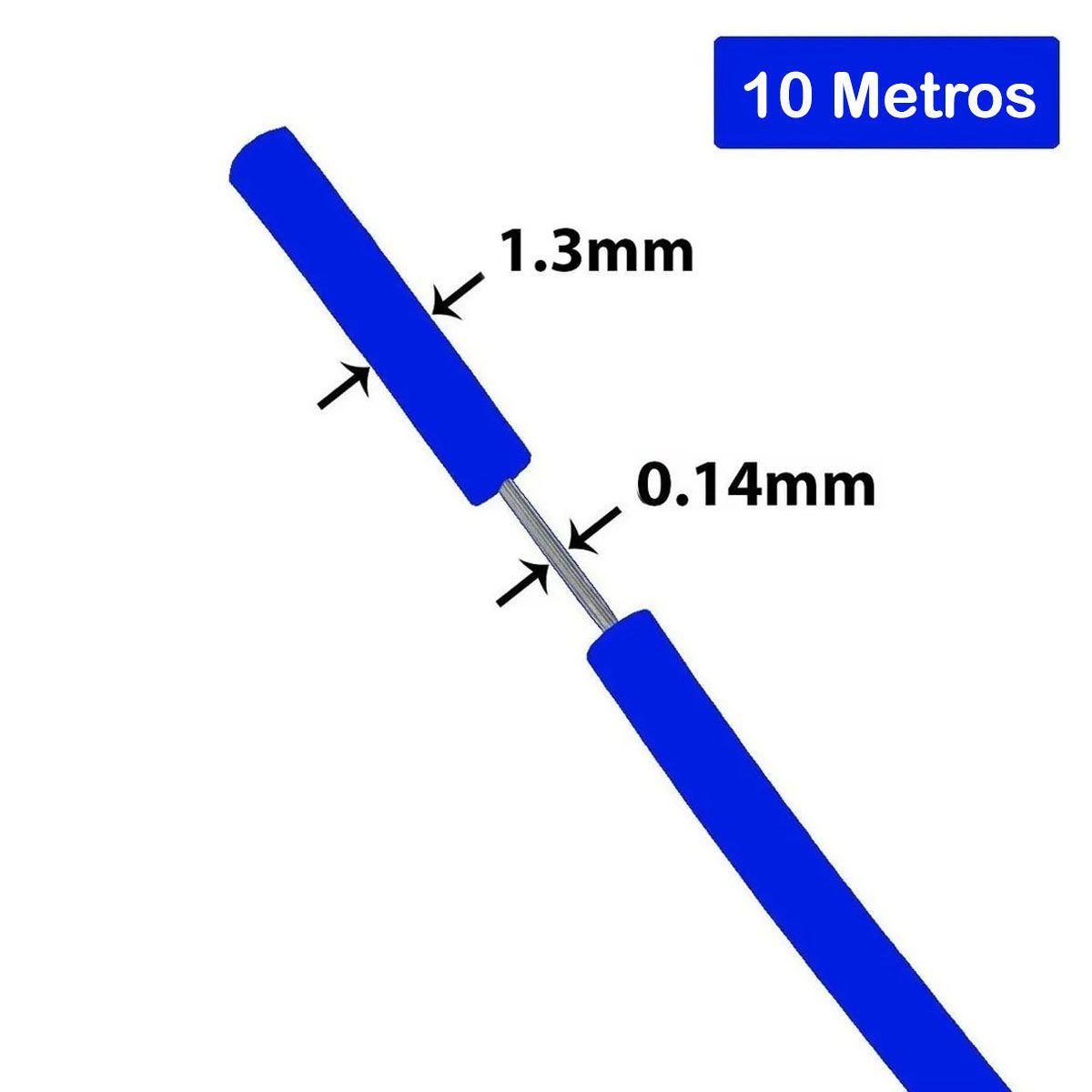 Fio Cabinho Flexível de Cobre Estranhado 0.14mm com 10 metros