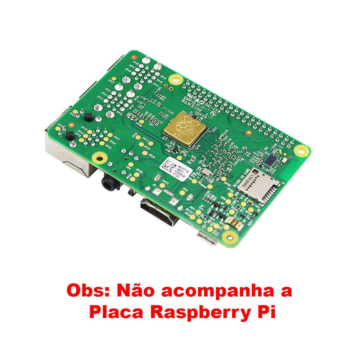 Fonte Raspberry Pi 3 5v 3A Tipo Mesa Micro USB liga/Desliga + Dissipadores