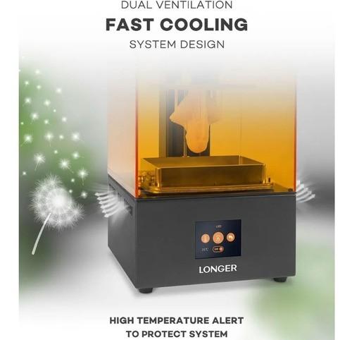 Impressora 3D de Resina Longer Orange 10 + 750 Ml De Resina