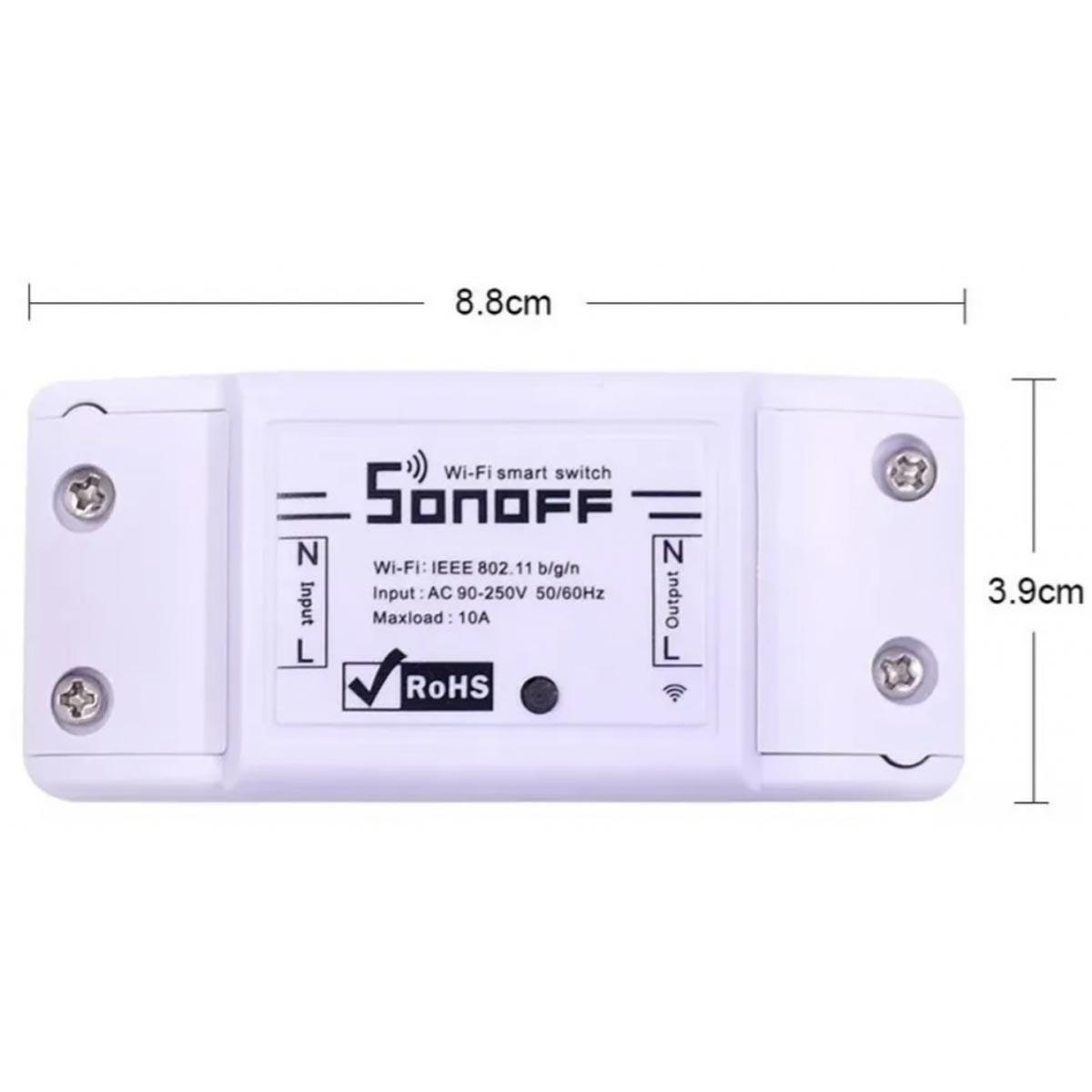 Interruptor Sonoff Basic Wi-fi para Automação Residencial Compatível Alexa, Google Home
