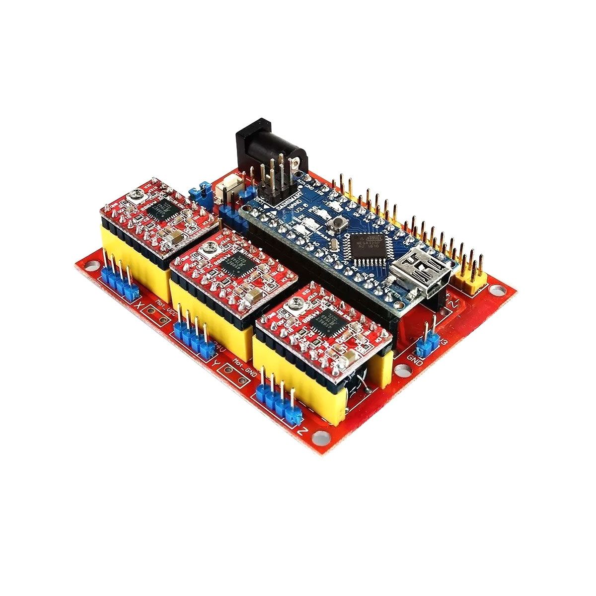 Kit CNC Shield V4 com Placa Nano + Drivers A4988 + Cabo Compatível com Arduino