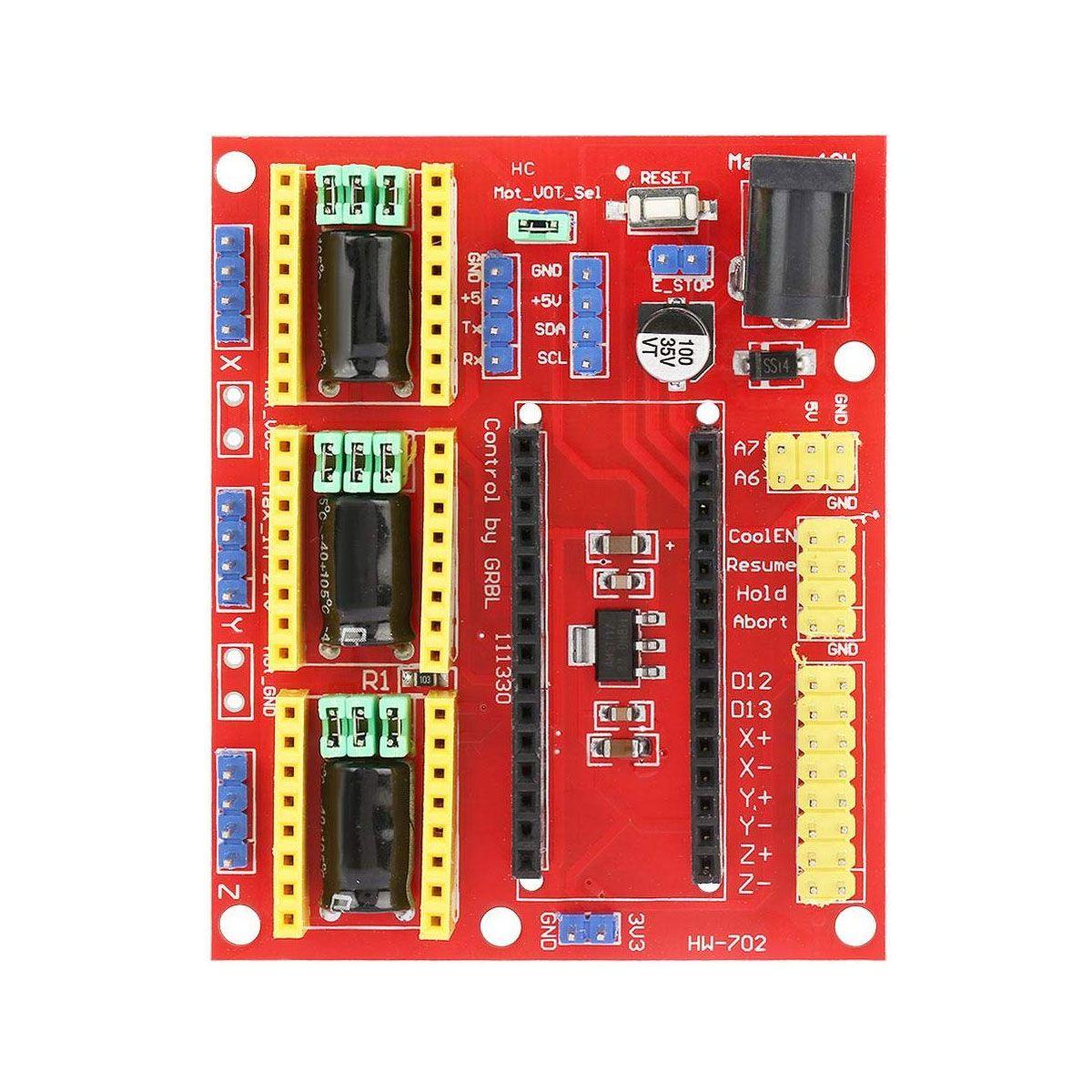 Kit CNC Shield V4 com Placa Nano + Drivers A4988 + Cabo Compatível com Arduino