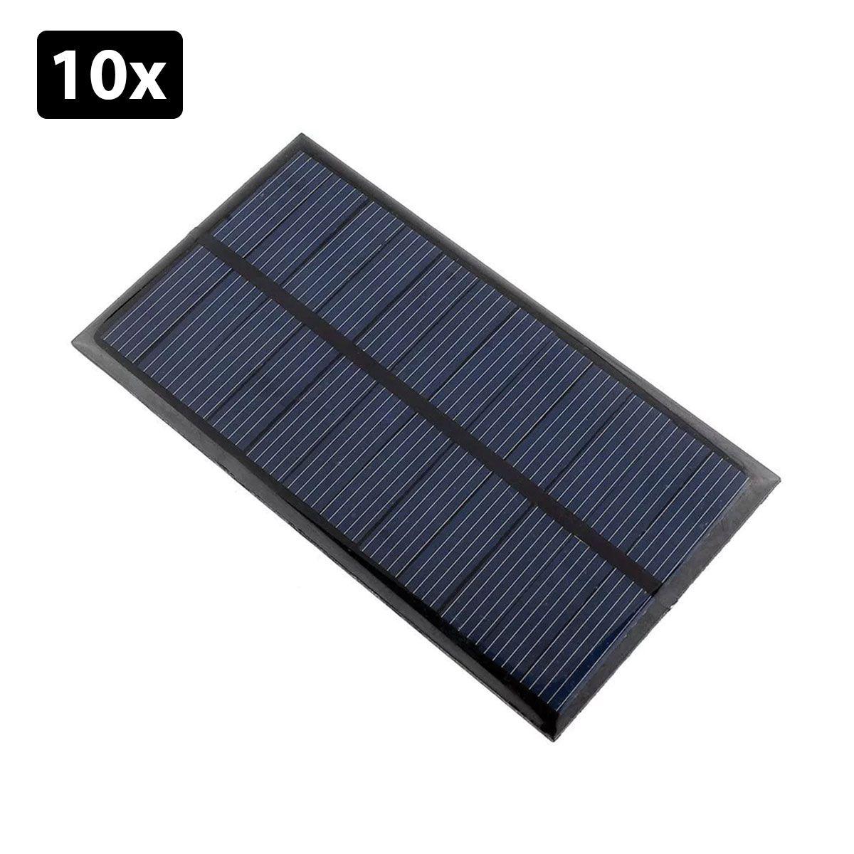 Kit com 10: Mini Painel / Placa Célula Solar Energia Fotovoltaica 12v 1.5w