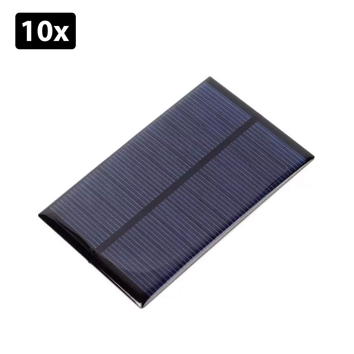 Kit com 10: Painel / Placa / Célula de Energia Solar Fotovoltaica 5V 240mA 1.2W