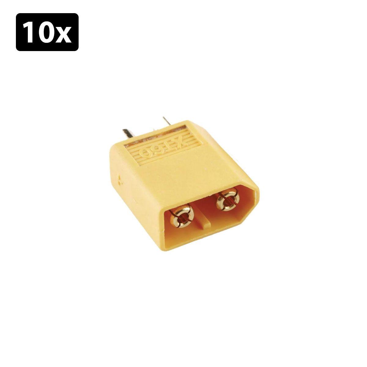 Kit com 10x Conector XT 60 Macho | Conector Lipo