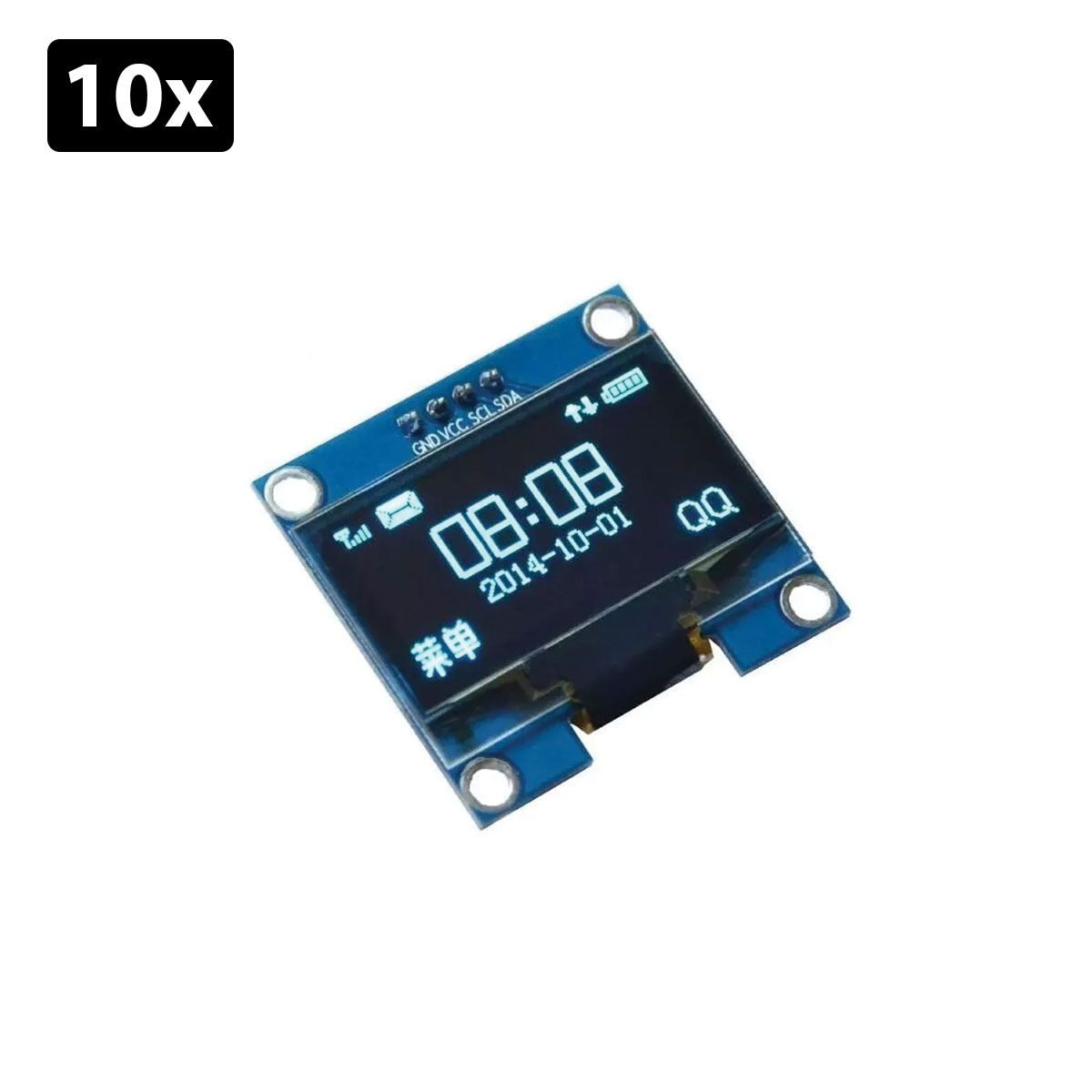 Kit com 10x Display Oled 128x64 Gráfico I2C Serial 0.96
