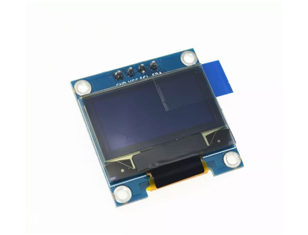 "Kit com 10x Display Oled 128x64 Gráfico I2C Serial 0.96"" - AZUL"