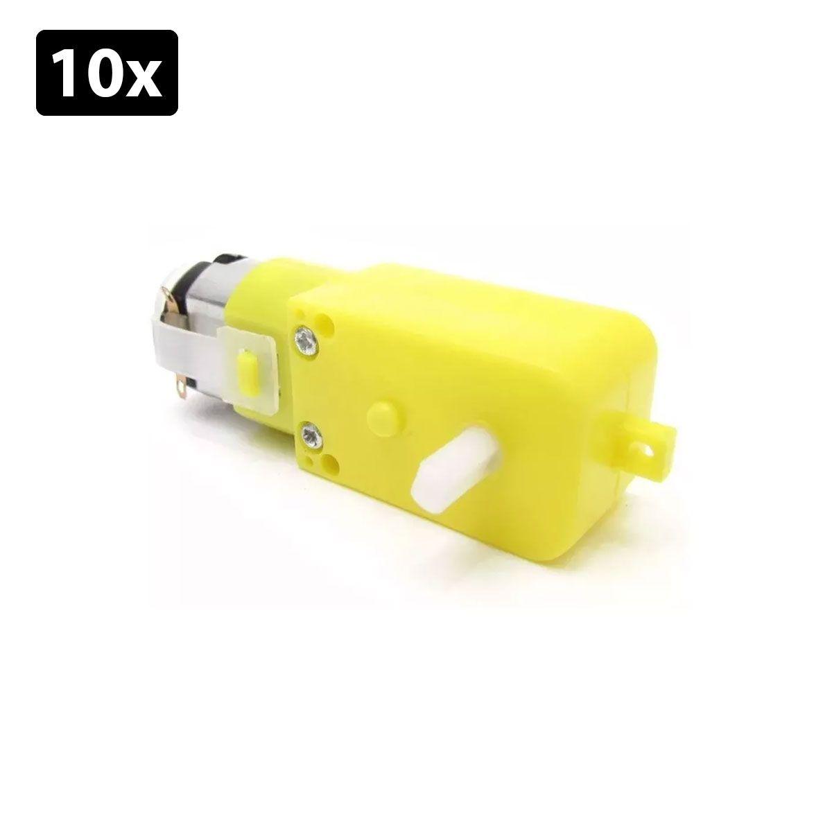 Kit com 10x Motor DC 3 a 6v com Redução