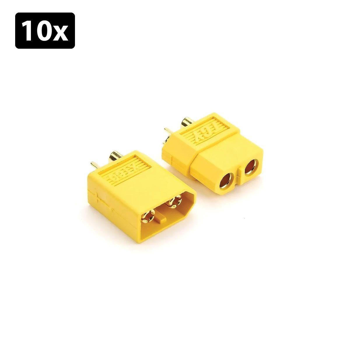 Kit com 10x Par de Conector XT 60 Macho e Fêmea | Conector Lipo