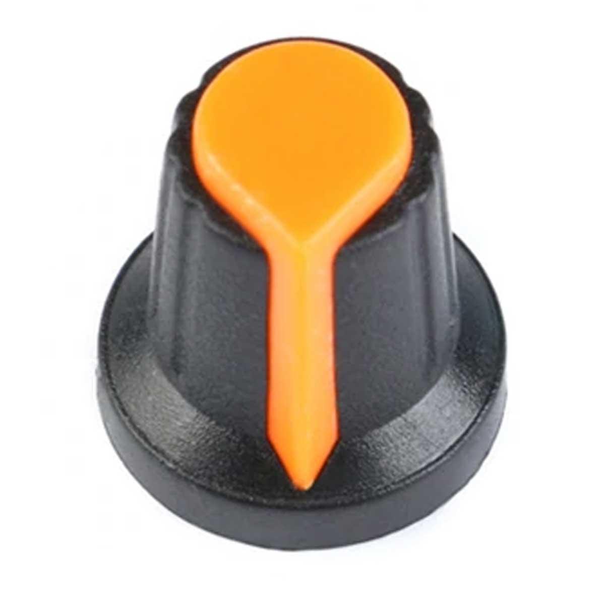 Kit com 5 Knob para Potenciômetro Estriado 6mm / Botão Volume - 1 de cada cor