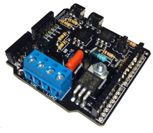 Kit com Dimmer Shield, Bluetooth Hc-05, Jumpers Macho x Fêmea, Placa Uno SMD R3 e Cabo Compatíveis com Arduino