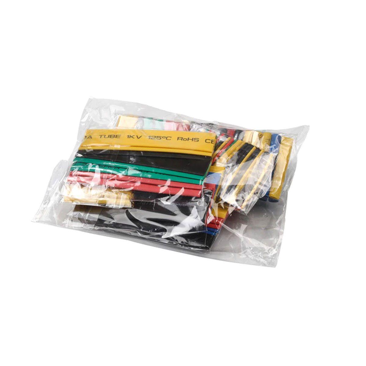 Kit de Espaguete Isolante Tubo Termo Retrátil 164 Peças Colorido