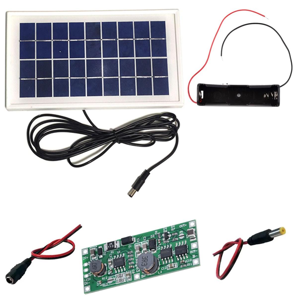 Kit  DIY UPS Carregador Solar de Bateria de Lítio 18650 - Saída 9v