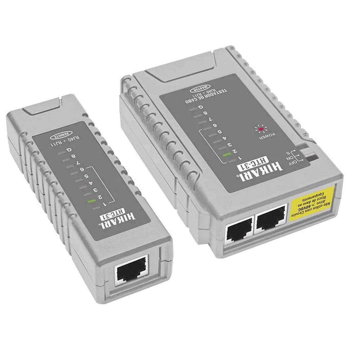 Kit Ethernet Iniciante: Testador de Cabo + Alicate Clipador + 10x RJ45 Macho