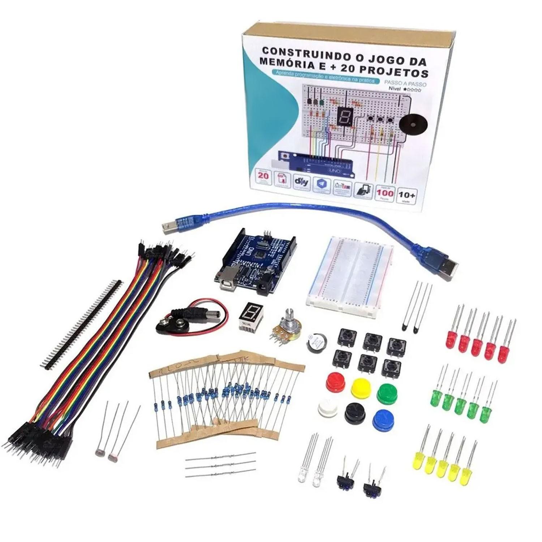 [COMBO] KIT Iniciante para Arduino + Livro Físico: Criando Jogos com Arduino