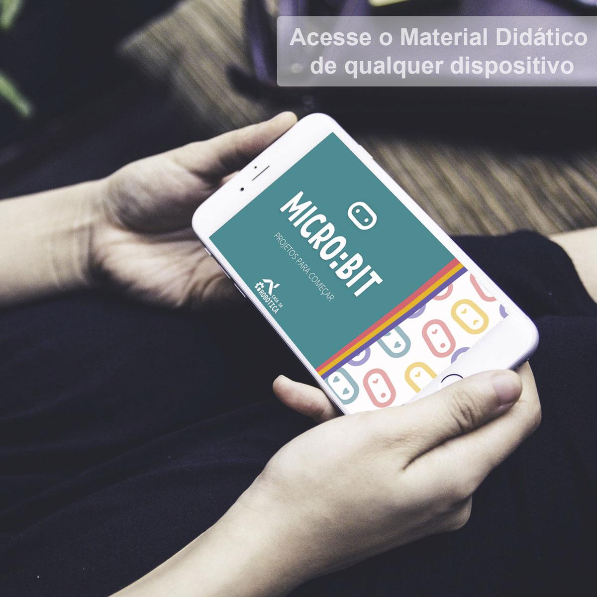 Kit Iniciante Robótica para Micro:BIT e Scratch Com Tutorial +90 pcs Microbit