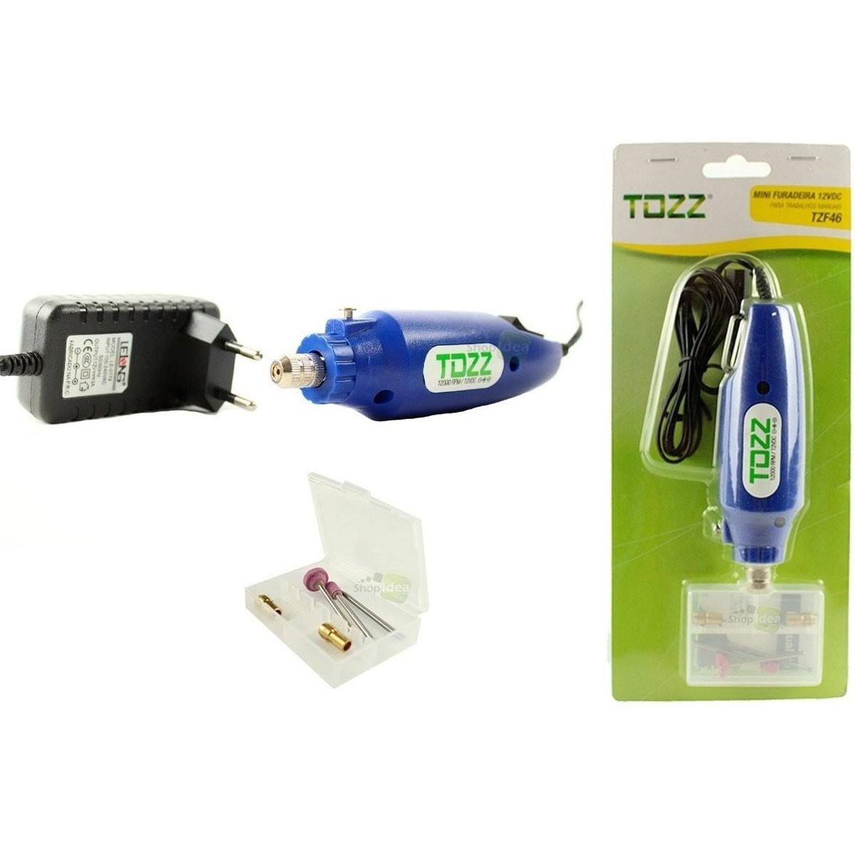 Kit: Mini Furadeira / Retífica 12V + Fonte + Suporte para Placa de Circuito Impresso + Brinde