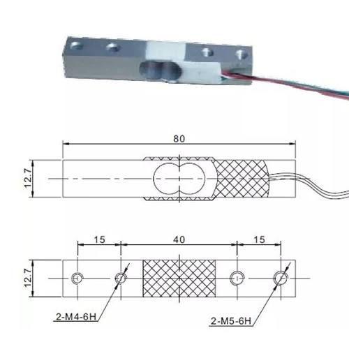 Kit Módulo HX711 ADC 24 Bits + Célula de Carga / Peso 5Kg