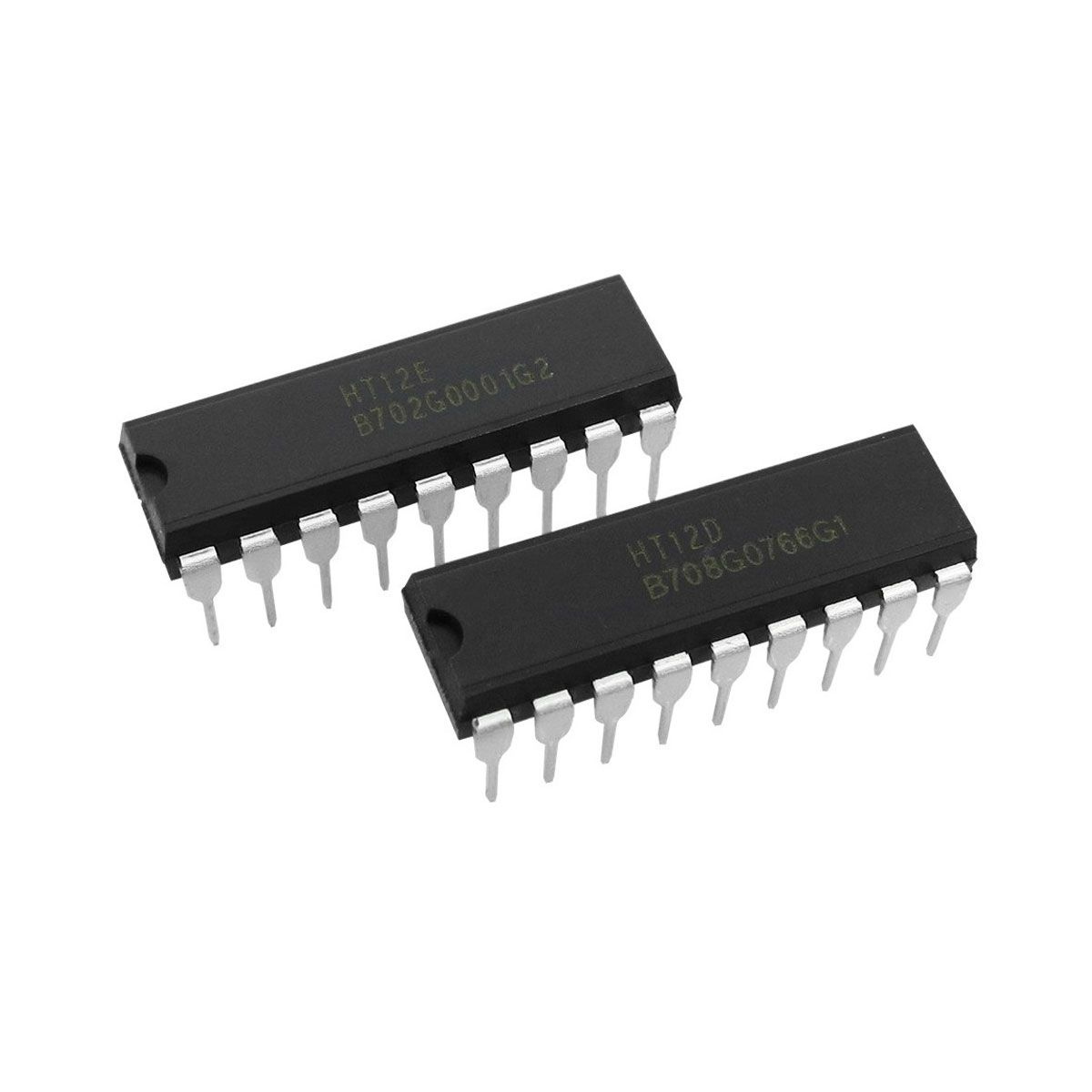 Kit Módulo RF Transmissor e Receptor 433mhz AM + Kit HT12E e HT12D Encoder e Decoder
