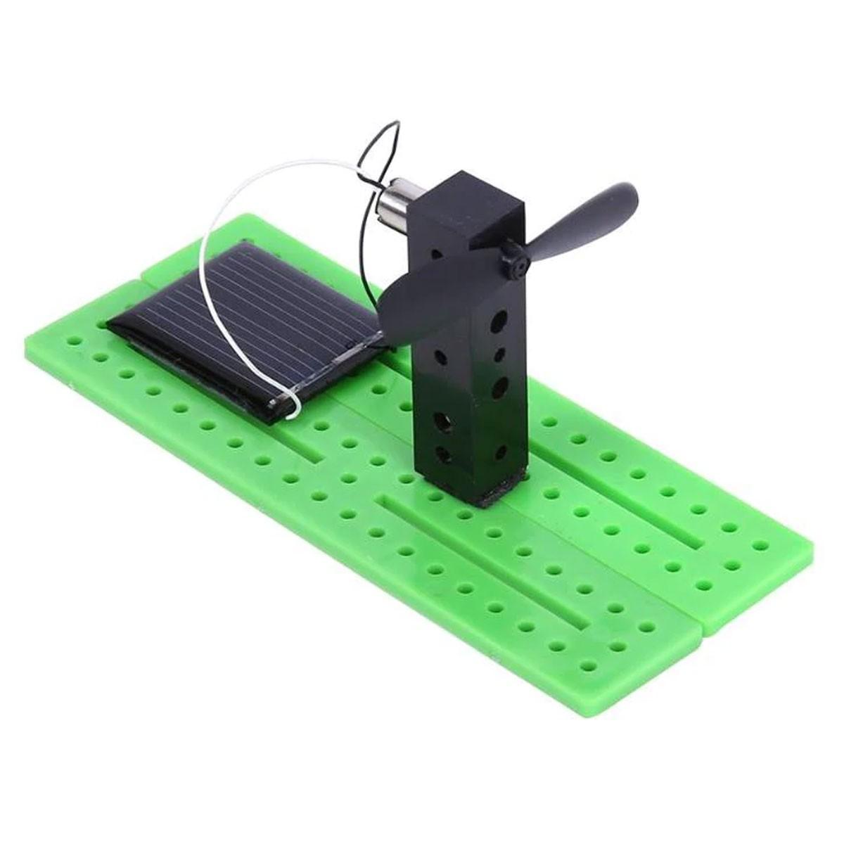 Kit Montagem Brinquedo Solar: Torre / Mini Ventilador movido a energia solar