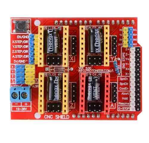 Kit Placa Uno SMD com Cabo para Arduino + Shield Cnc + 4x Drivers e Dissipadores