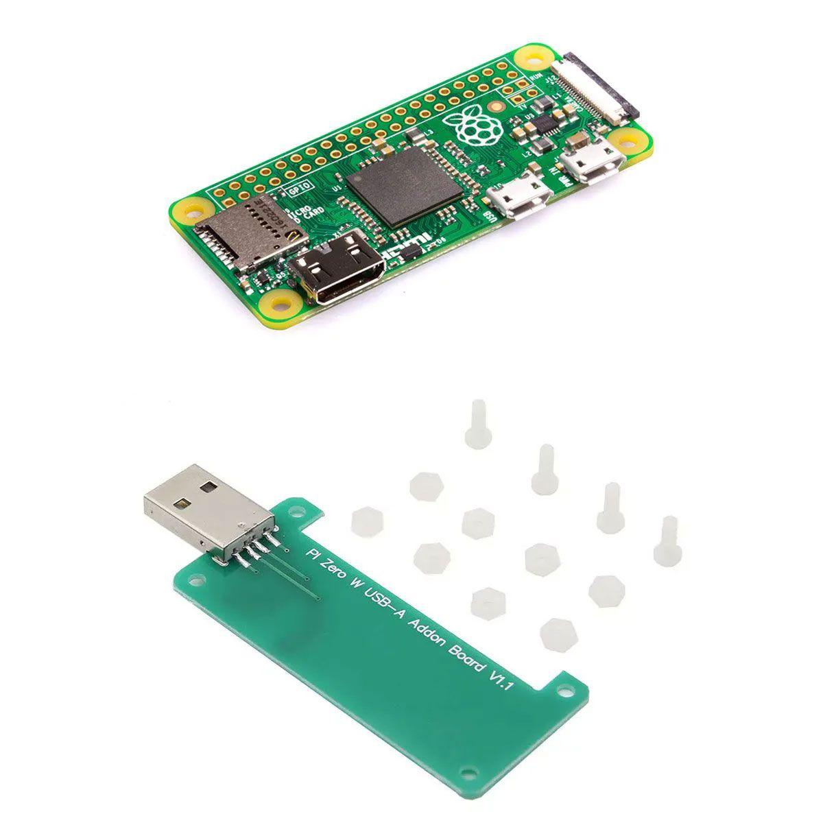 Kit: Raspberry Pi Zero 1.3 + Adaptador USB Tipo A para Raspberry Pi Zero