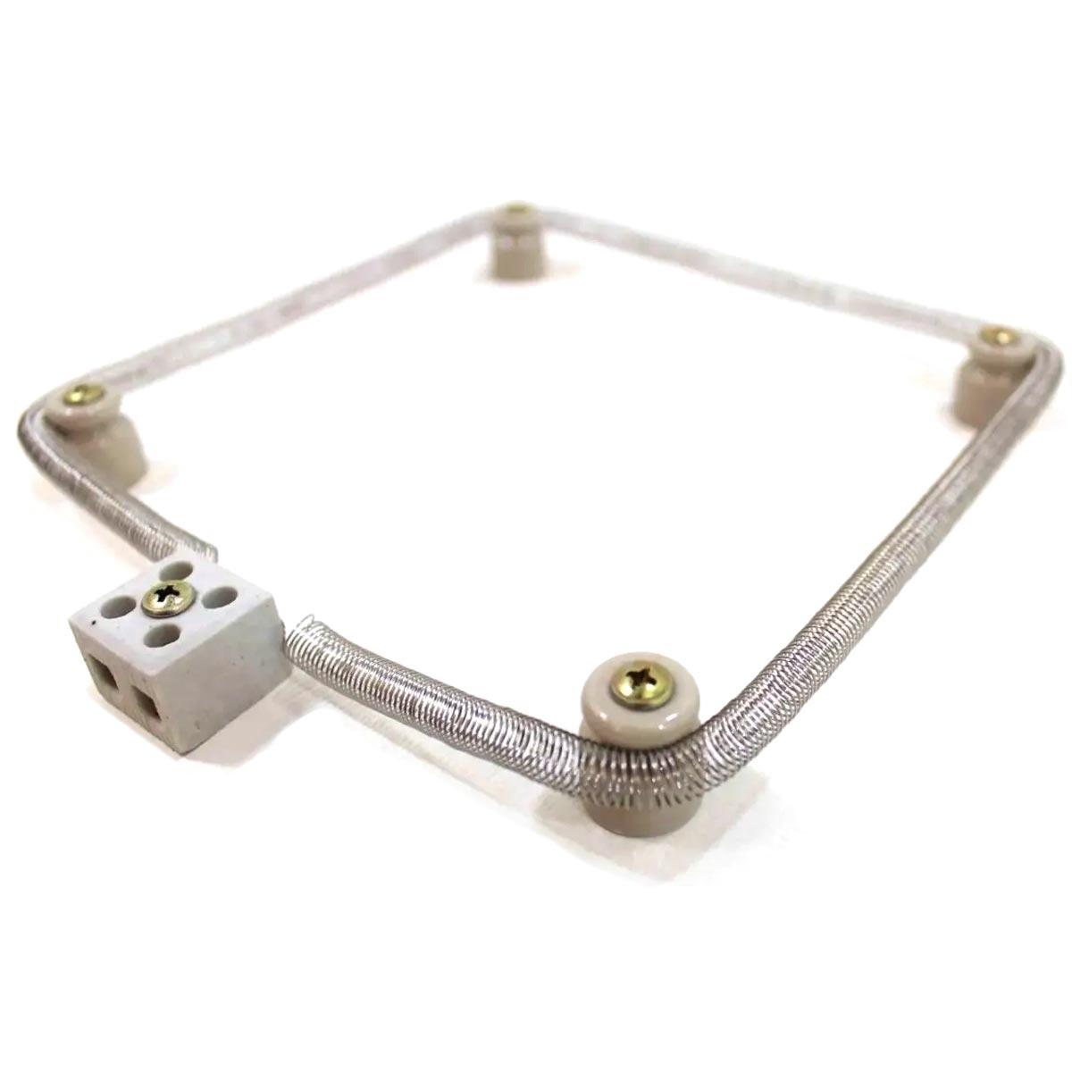 Kit: Resistência de Chocadeira + 4 Isoladores / Roldanas de Porcelana + Conector de Cerâmica