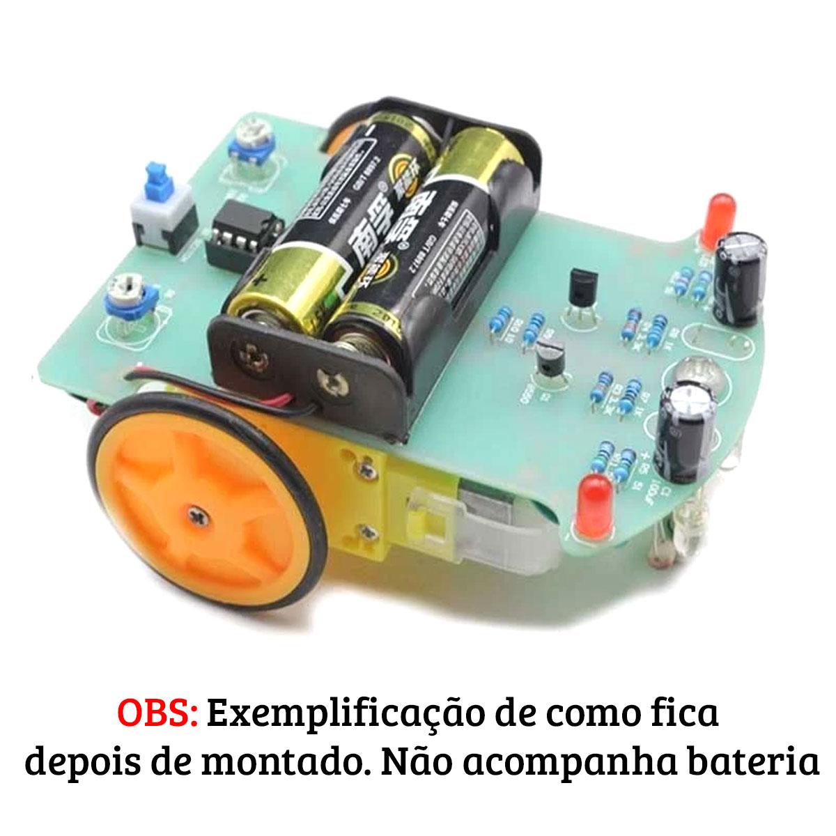 Kit Robô Seguidor de Linha 2 Rodas DIY - Faça você mesmo