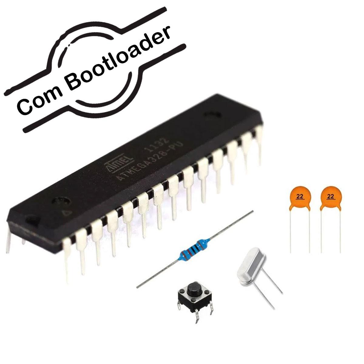 Kit Standalone com Microcontrolador ATMEGA 328P com Bootloader montagem de Arduino Compatível