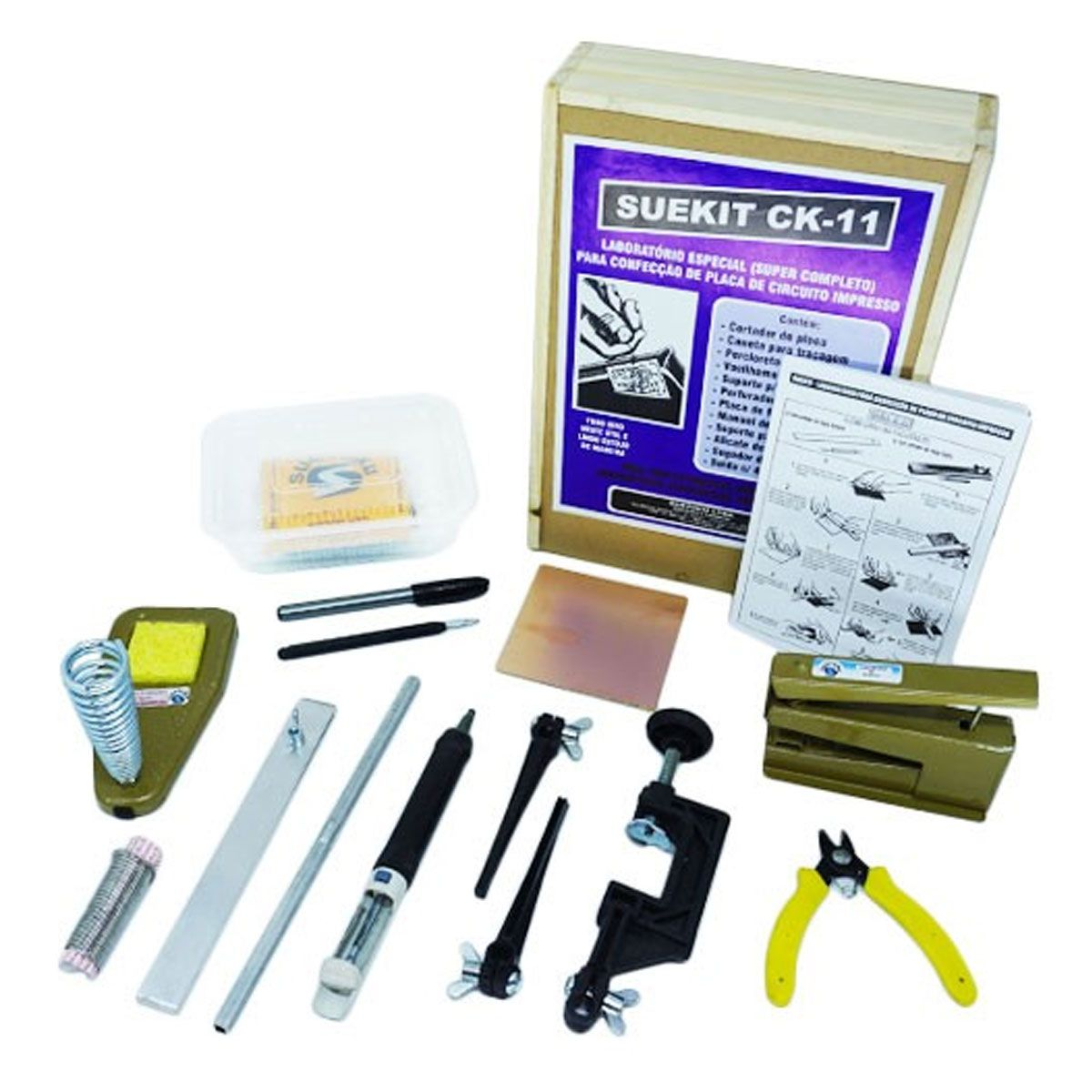 Kit Suetoku para Circuito Impresso de Eletrônica Suekit CK-11